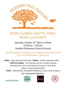 Save The Date: Fall Festival October 15th